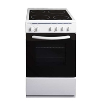 Crown 50C3MA Electric-Cooker-Oven Ventilated & Grill + 4*Ceramic-Burner (4*Electric) 48Ltr A White (H85xW50xD60 cm)