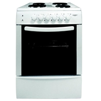 Crown 60E60V Electric-Cooker-Oven Ventilated & Grill + 4*Burner (4*Electric) 66Ltr A White (H88xW60xD60 cm)