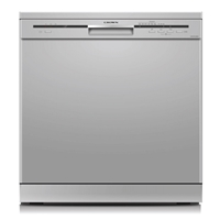 Crown CDW-601262SI Dishwasher 12-Sets A+ 6-Program LED-Indicator Silver (H85xW60xD60 cm)
