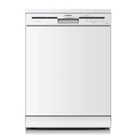 Crown CDW-601262W Dishwasher 12-Sets A+ 6-Program LED-Indicator White (H85xW60xD60 cm)