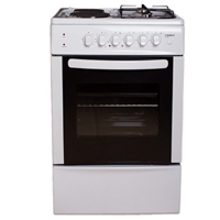 Crown CR-5050V Electric-Cooker-Oven + 4*Burner (2*Gas+2*Electric) 48Ltr A White (H85xW50xD50 cm)