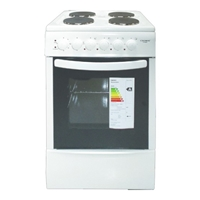 Crown CR-50E50 Electric-Cooker-Oven + 4*Burner (4*Electric) 49Ltr A White (H85xW50xD50 cm)