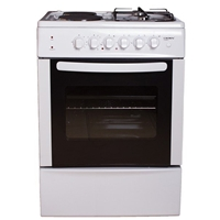 Crown CR-6060V Electric-Cooker-Oven + 4*Burner (2*Gas+2*Electric) 66Ltr A White (H85xW60xD60 cm)