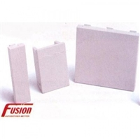 Fusion 25mmx50mm 1/2 Single Blank Plate 17.0128