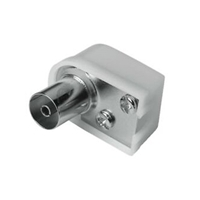 Coax Plug 90degrees White