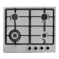 General 4GASI Built-in Gas Hob 4*Burner Knob-Control Silver