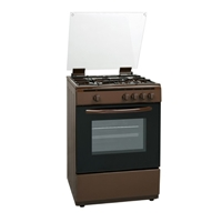 General 5050BR Gas-Cooker-Oven & Grill + 4*Burner (4*Gas) Brown (H87xW50xD50 cm)