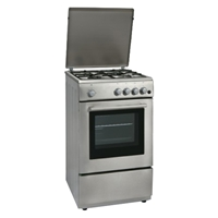 General 5050GI Gas-Cooker-Oven & Grill + 4*Burner (4*Gas) Silver (H87xW50xD50 cm)