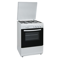 General 6060GW Gas-Cooker-Oven & Grill + 4*Burner (4*Gas) White (H87xW60xD60 cm)