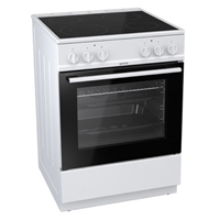 Gorenje EC6141WC Electric-Cooker-Oven Ventilated & Grill + 4*Ceramic-Burner (4*Electric) 61Ltr A White (H85xW60xD60 cm)