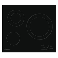 Indesit RI-360-C Built-in Ceramic Hob Black 3*Burner Touch-Control (4.6x58x51 cm)