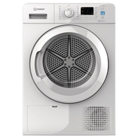 Indesit YT-M10-81R-EU 8Kg A+ Condensing Tumble Dryer with Heat Pump Large LED Sensor-Drying System ( H85xW60xD64 cm) White
