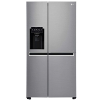 LG GSL760PZXV Fridge/Freezer Side-By-Side 601Ltr (405L+196L) (H179xW91.2xD73.8 cm) A+ No-Frost Silver Water/Ice-Dispenser