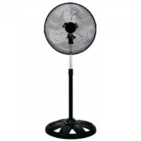 "Omega 12"" Metal-Blades 50W 3-Speed High-Velocity Stand-Fan Black EFNTORNADOBK"