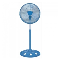 "Omega 12"" Metal-Blades 50W 3-Speed High-Velocity Stand-Fan Blue EFNTORNADOBL"