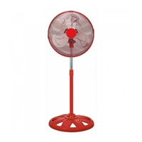 "Omega 12"" Metal-Blades 50W 3-Speed High-Velocity Stand-Fan Red EFNTORNADOPK"