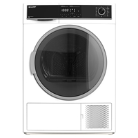 Sharp KD-HHH8S8GW3 8Kg A+++ Condensing Tumble Dryer with Heat Pump Large LED Sensor-Drying System ( H84.5xW60xD62.2 cm) White