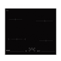 Sharp KH-6V08FT00 Built-in Ceramic Hob 4*Burner Touch-Control (H4.1xW59xD52 cm)