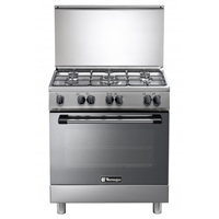 Tecnogas L855BXV 80cm Gas-Cooker-Oven & Grill + 5*Burner (5*Gas) Silver (H84xW80xD50 cm)
