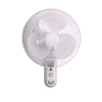Topair 40cm Plastic-Blades 3-Speed Wall Fan KF705W