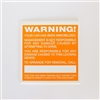 Windshield Warning Stickers