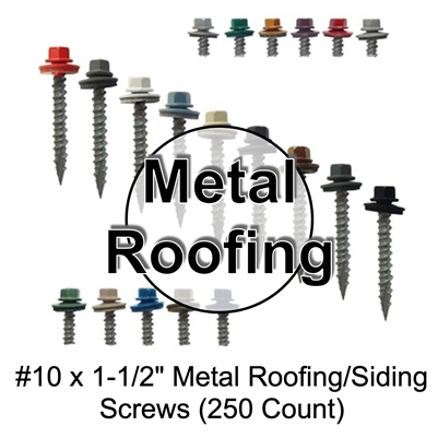 "Colored Roofing Screws, Sheet Metal Roofing Screws, Corrugated Metal Roofing Siding Screws Pole Barn (1"" 1 inch roofing screws)"