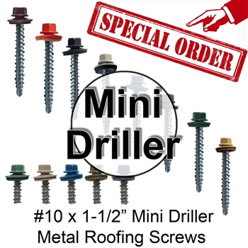Colored Roofing Screws, Sheet Metal Roofing Screws, Corrugated Metal Roofing Siding Screws Pole Barn (1-1/2 inch roofing screws)