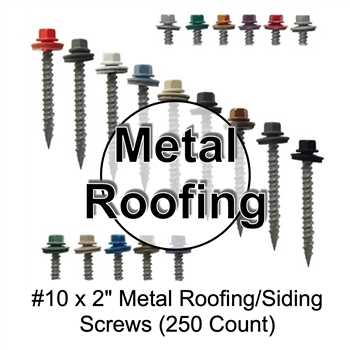 "Colored Roofing Screws, Sheet Metal Roofing Screws, Corrugated Metal Roofing Siding Screws Pole Barn (2"" 2 inch roofing screws)"