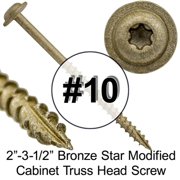Gold Star Modified Truss Head Wood Screw, Gold Star Round Washer Head Screws