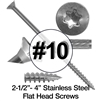Stainless Steel Wood Screws #10 (305 Grade Stainless Steel)