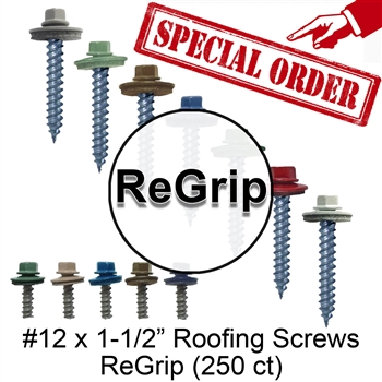 "Colored Roofing Screws, Sheet Metal Roofing Screws, Corrugated Metal Roofing Siding Screws Pole Barn (#12 x 1-1/2"" -- 1-1/2 inch roofing screws)"