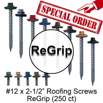 "Colored Roofing Screws, Sheet Metal Roofing Screws, Corrugated Metal Roofing Siding Screws Pole Barn (#12 x 2-1/2"" -- 2-1/2 inch roofing screws)"