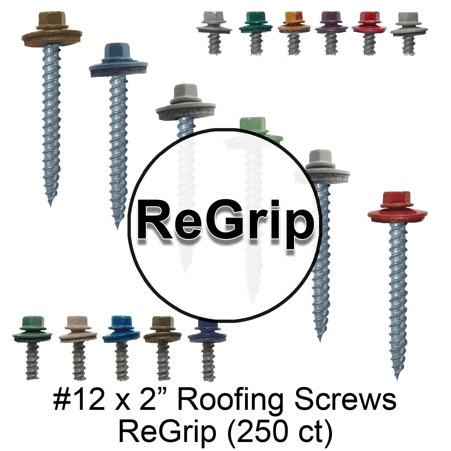 #12 Metal Roof Siding Screw Stainless Steel Roofing Screws w//EPDM Washer QTY 25