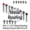 "Colored Roofing Screws, Sheet Metal Roofing Screws, Corrugated Metal Roofing Siding Screws Pole Barn (#14 x 1-1/2"" 1-1/2 inch roofing screws)"