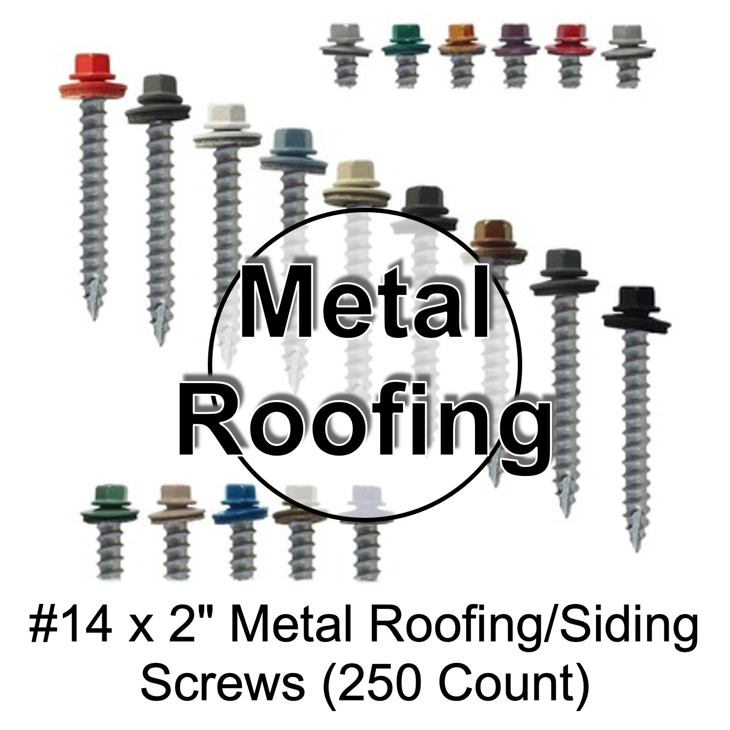Colored Sheet Metal Roofing Screws Corrugated Metal Roofing Siding Screws 14 X 2 2 Inch Roofing Screws