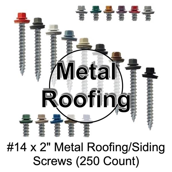 "METAL ROOFING SCREWS Bag of 250 Brite Red 1.5/"" Pole Barn Siding Roof Fastener"
