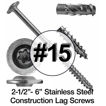 Stainless Steel Wood Screws #15