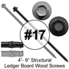 Gray Structural Ledger Board Wood Screw