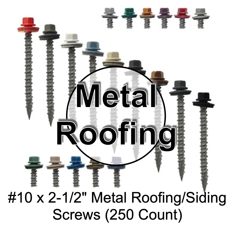 #14 Hex Washer Head Roofing Screws Mechanical GalvanizedForest Green Finish