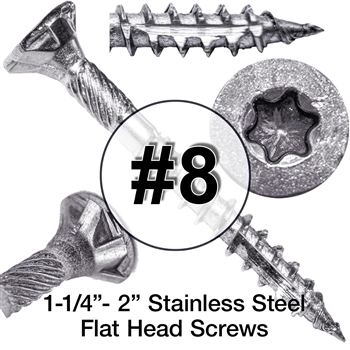 Stainless Steel Wood Screws #8 (305 Grade Stainless Steel)