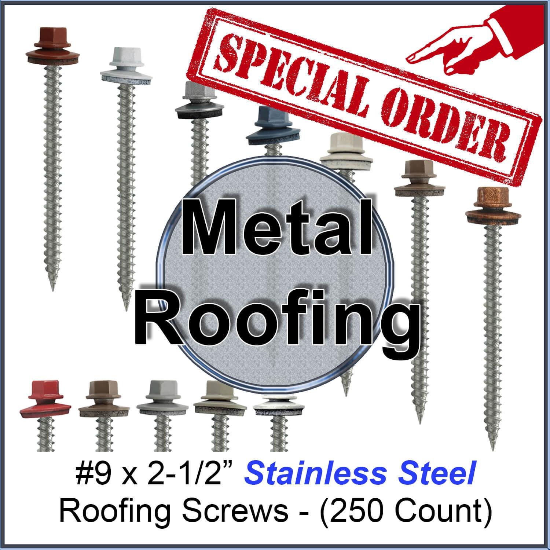 #10 Hex Head Self Piercing Sealing Color Screws Metal Roof Pole Barn Steel Sheet