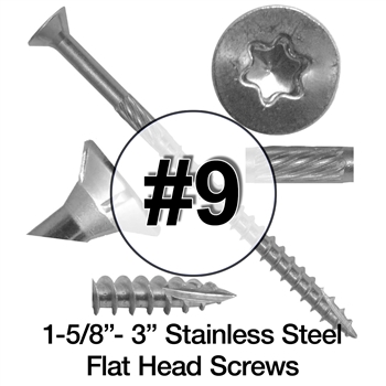 Stainless Steel Wood Screws #9 (305 Grade Stainless Steel)