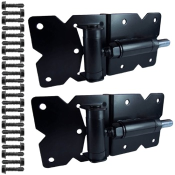 BLACK Vinyl Fence Gate Hinges