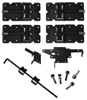 BLACK Standard Vinyl Double Gate Kit (Vinyl Hinges, Latch & Drop Rod)