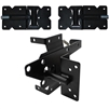 Vinyl Fence Single Gate Kit - Vinyl Gate Hinge & Vinyl Gate Latch - BLACK