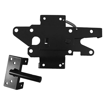 Vinyl Fence Gate Latch - Vinyl Gate Latch - Lockable from BOTH Sides of Gate - BLACK
