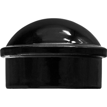 Aluminum Chain Link Fence Post Caps -BLACK