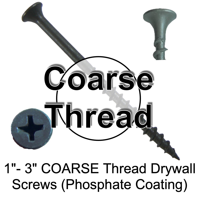 COARSE Thread Drywall Screws (Phosphate Coating)