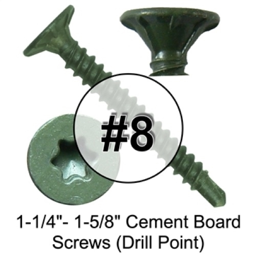 Star/Torx Drive Cement Board Screws (Drill Point) (1 Pound)