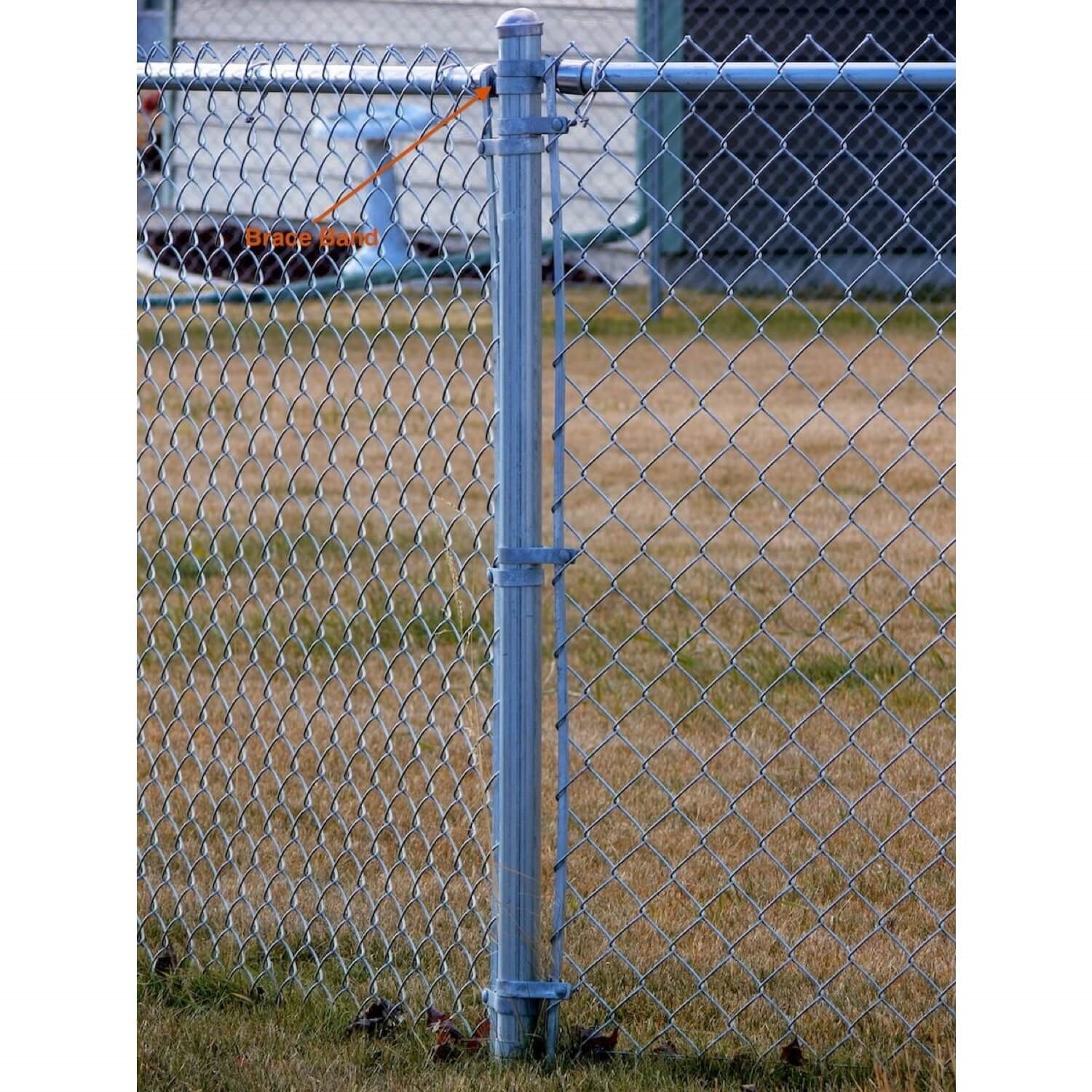 Chain Link Fence Brace Bands For Rail End Chain Link